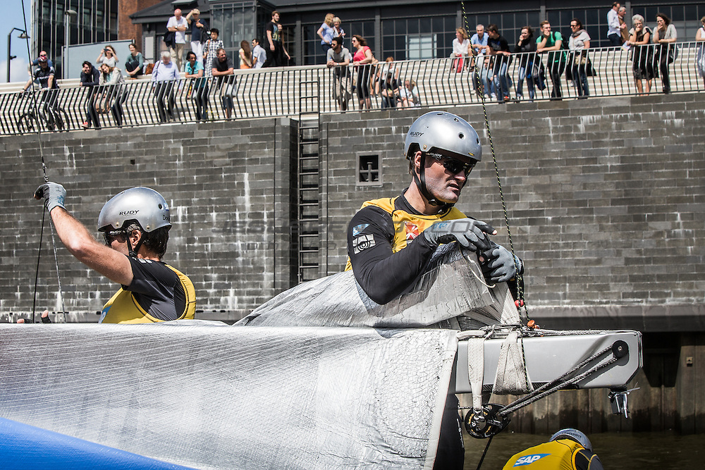 2015 Extreme Sailing Series - Act 5 - Hamburg.<br /> ESS Teams setting up before Day 3 Racing<br /> Credit Jesus Renedo.