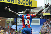 Yannick Bolasie screams for a penalty during the Barclays Premier League match between Crystal Palace and Arsenal at Selhurst Park, London, England on 16 August 2015. Photo by Michael Hulf.