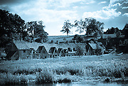 Arlington Row Almshouses row of cottages  in Bibury, Cotswolds, England