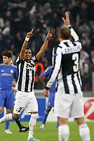 """Esultanza Arturo Vidal Juventus<br /> Celebration<br /> Torino 20/11/2012 Stadio """"Juventus""""<br /> Football Calcio UEFA Champions League 2012/13<br /> Juventus v Chelsea<br /> Foto Insidefoto Paolo Nucci"""