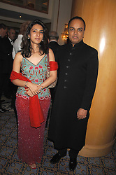 DR NISH JOSHI and ANSHITA MADHOK at the Eastern Eye Asian Business Awards 2007 in the presence of HRH The Duke of York at the Hilton Park Lane, London on 8th May 2007.<br />