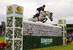 Fuchs Martin, (SUI), Conte Della Caccia<br /> Semersby Trophy - Puissance Competition<br /> Falsterbo Horse Show 2015<br /> © Hippo Foto - Peter Zachrisson<br /> 11/07/15