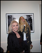 DEBBIE HARRY; LAURA BAILEY, Chris Stein / Negative: Me, Blondie, and The Advent of Chris Stein / Negative: Me, Blondie, and The Advent of Punk - private view, Somerset House, the Strand. London. 5 November 2014.
