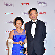 Thomas Chan DL and wife attend the British Takeaway Awards 2020 on 27th January 2020, Savoy Hotel, Strand, London, UK.