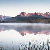 Redfish Lake, Idaho. Ultra high resolution panoramic for large format printing.