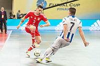 Benfica's Bruno Coelho and Pescara's Adolfo Salas during UEFA Futsal Cup 2015/2016 3º/4º place match. April 22,2016. (ALTERPHOTOS/Acero)