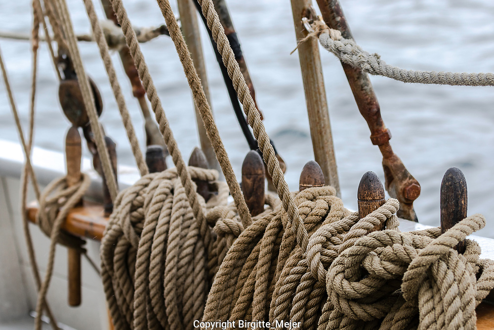 Rigging ropes up close