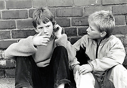 Two boys, UK 1990s