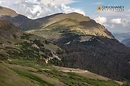 Fall River Road in Rocky Mountain National Park, Colorado, USA