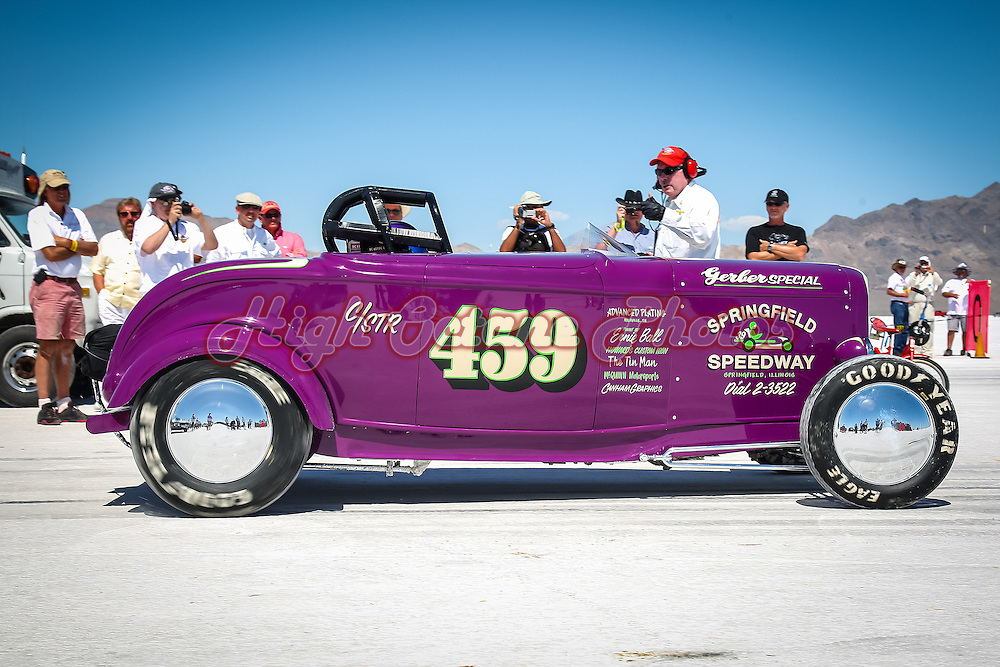 The Syclone Motorsports Gerber Special wearing race number 459 at Bonneville Speed Week 2010.