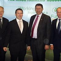 Michael Lynch, Clare IFA Chairman; Deputy Joe Carey; Padraig Walshe, IFA President; Tony Honan, Clare IFA Member at the Clare IFA meeting on Thursday night.