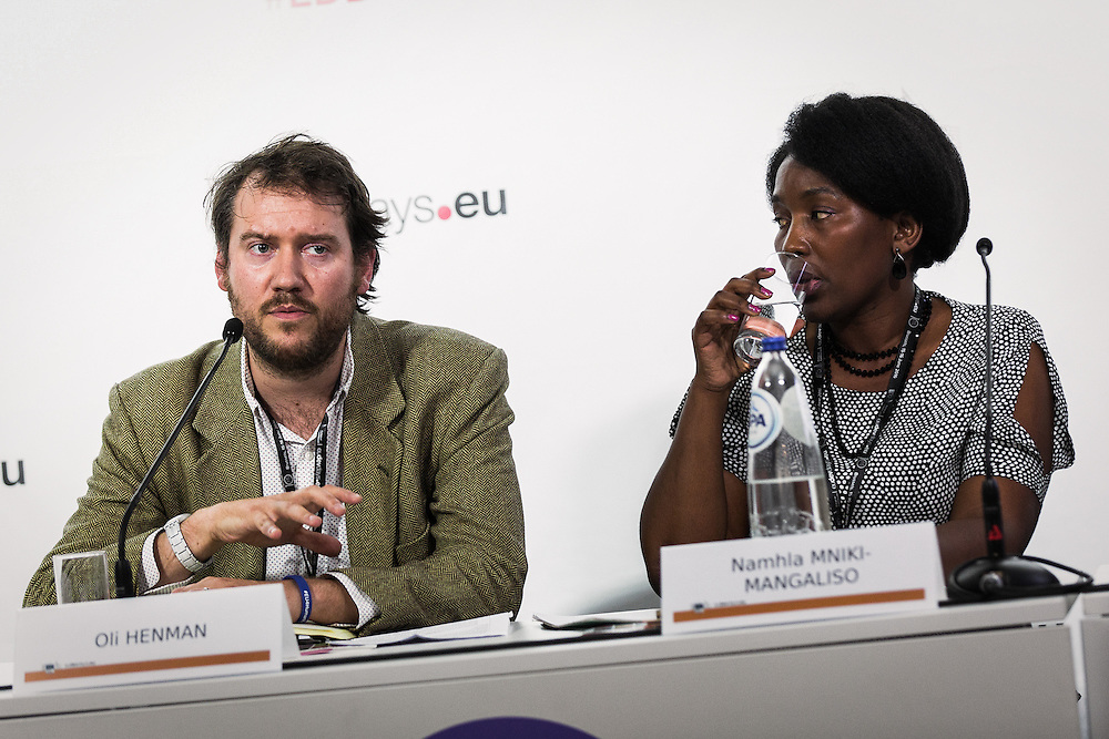 20160616 - Brussels , Belgium - 2016 June 16th - European Development Days - EMPOWERing vulnerable land users to become agents of a transformative 2030 Agenda - Oli Henman , European Representative , CIVICUS Europe and Namhla Mniki-Mangaliso , Director , African Monitor © European Union