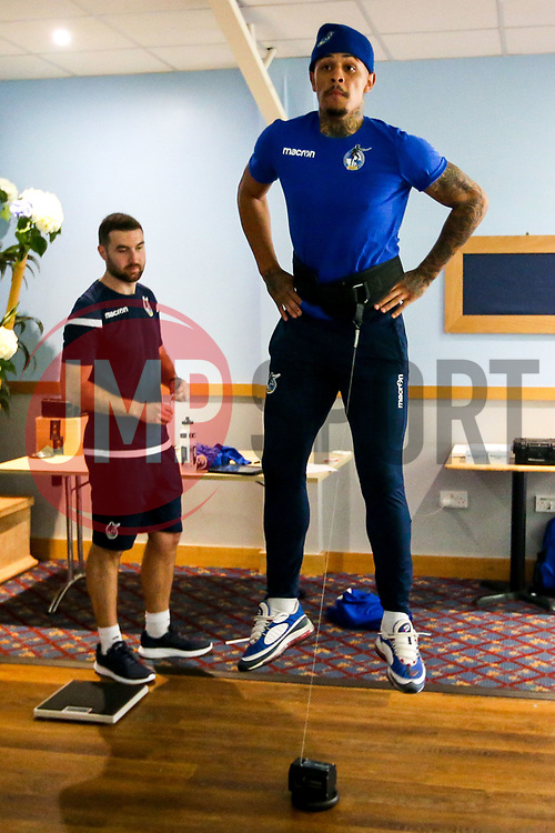 Jonson Clarke-Harris of Bristol Rovers during the first day of preseason training ahead of the 2019/20 Sky Bet League One Season - Mandatory by-line: Robbie Stephenson/JMP - 27/06/2019 - FOOTBALL - The Lawns - Bristol, England - Bristol Rovers Return for Preseason Training