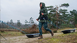 Anouk in training for the Camino 2020 at the Soesterduinen on March 08, 2020 in Soest, Netherlands