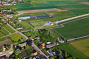 Nederland, Zuid-Holland, Hazerswoude-dorp, 23-05-2011; Polder de Noordplas, zuidelijke ingang boortunnel HSL.The entrance of the High Speed Train in the polder between Amsterdam and Rotterdam..luchtfoto (toeslag), aerial photo (additional fee required).copyright foto/photo Siebe Swart