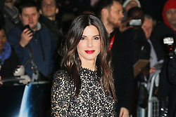© Licensed to London News Pictures. 10/10/2013, UK. Sandra Bullock, The BFI London Film Festival: Gravity, Odeon Leicester Square, London UK. Photo credit : Richard Goldschmidt/Piqtured/LNP