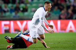 Marcel Sabitzer of Austria, Josip Iličić of Slovenia during the 2020 UEFA European Championships group G qualifying match between Slovenia and Austria at SRC Stozice on October 13, 2019 in Ljubljana, Slovenia. Photo by Sasa Pahic Szabo / Sportida