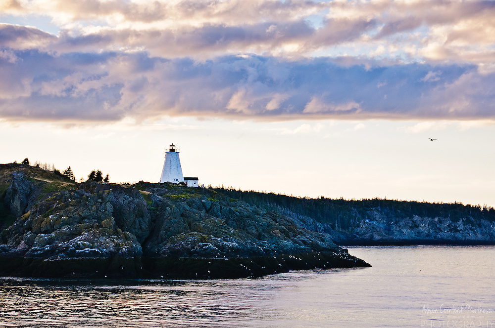 Swallowtail Lighthouse on Grand Manan Island, New Brunswick, Canada
