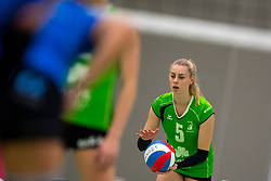 19-01-2019 NED: Pharmafilter US - Dros-Alterno, Amsterdam<br /> Round 15 of Eredivisie volleyball. Alterno win 3-0 (17-25 16-25 20-25) of US / Lisa Nobel #5 of Alterno