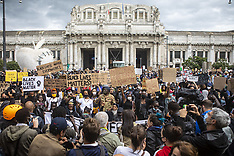 Black lives matter protests continue - Milan 7 June 2020