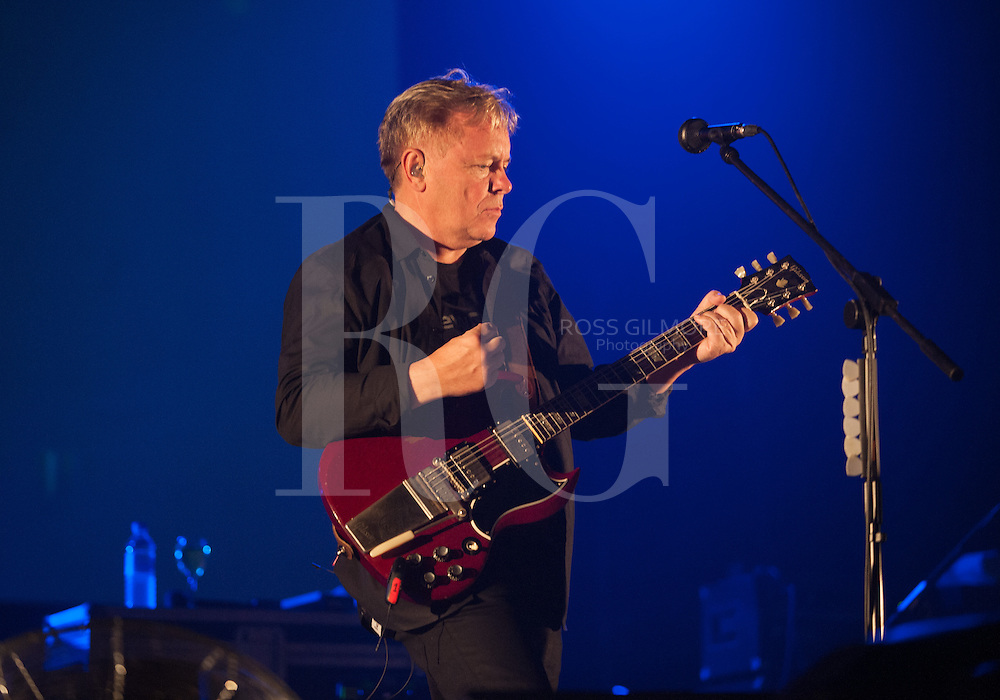 Kinross, Scotland -July 12: Bernard Sumner of New Order performs on stage during the 2012 T in The Park Festival.