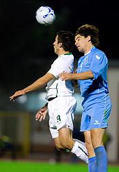 Zlatan Ljubijankic of Slovenia vs Davide Simoncini of RSM  at the last 2010 FIFA World Cup South Africa Qualifying match in Group 3 between San Marino and Slovenia, on October 14, 2009, in Olimpico Stadium, Serravalle, San Marino. Slovenia won 3:0. (Photo by Vid Ponikvar / Sportida)