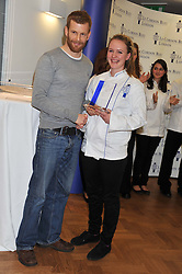 Chef TOM AIKENS and ABIGAIL WATSON winner of the Cordon Bleu scholarship at the Grand Opening of Le Cordon Bleu's International Flagship School at 15 Bloomsbury Square, London WC1 on 7th February 2012.