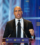 Newark Mayor, Cory Booker during the Human Rights Campaign New York City Gala 2013 on February 2, 2013 at the Waldorf Astoria Hotel.