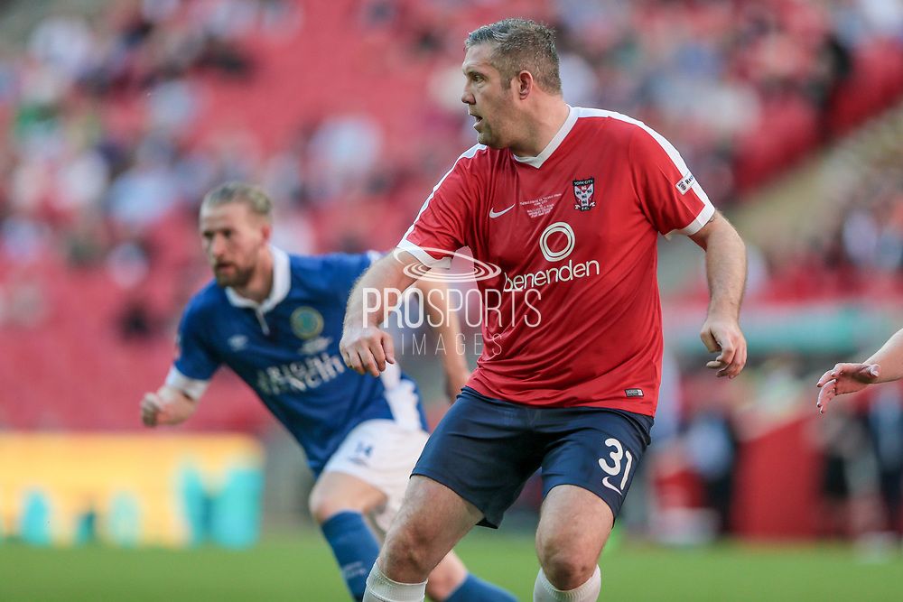 Jon Parkin (York City) during the FA Trophy match between Macclesfield Town and York City at Wembley Stadium, London, England on 21 May 2017. Photo by Mark P Doherty.