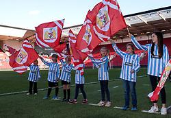Girls from Longwell Green act as flag bearer for Bristol City Women - Mandatory by-line: Paul Knight/JMP - 22/04/2017 - FOOTBALL - Ashton Gate - Bristol, England - Bristol City Women v Reading Women - FA Women's Super League 1 Spring Series