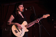 Lulu Prat of The Prettiots performs during 35 Denton at Rubber Gloves in Denton, Texas on March 15, 2015. (Cooper Neill for The New York Times)