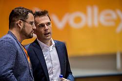 02-10-2016 NED: Supercup Abiant Lycurgus - Coniche Topvolleybal Zwolle, Doetinchem<br /> Lycurgus wint de Supercup door Zwolle met 3-0 te verslaan / Nieuwe Nevobo directeur Guido Davio en Bram Ronnes