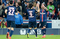 joie PSG / Ezequiel Lavezzi / Edinson Cavani - 23.05.2015 - PSG / Reims - 38eme journee de Ligue 1<br /> Photo : Andre Ferreira / Icon Sport