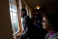 Republican Rick Perry, the former governor of Texas, looks out the window Wednesday, Aug. 19, 2015, as he waits with members of The Des Moines Register staff before giving his Soapbox speech at the Iowa State Fair in Des Moines.
