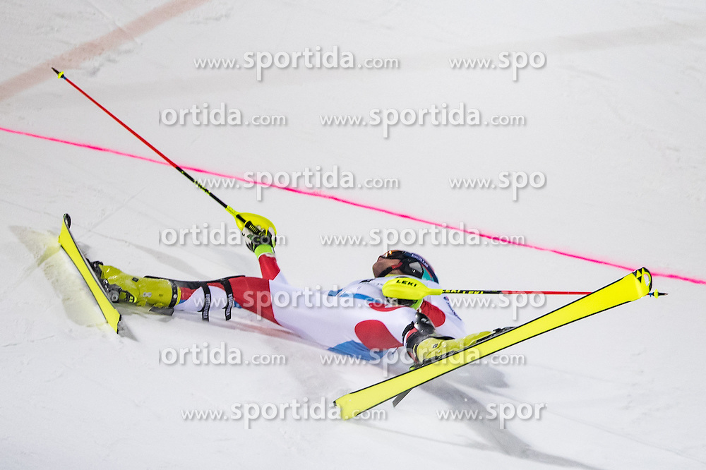24.01.2017, Planai, Schladming, AUT, FIS Weltcup Ski Alpin, Schladming, Slalom, Herren, 1. Lauf, im Bild Daniel Yule (SUI) // Daniel Yule of Switzerland in action during his 1st run of men's Slalom of FIS ski alpine world cup at the Planai in Schladming, Austria on 2017/01/24. EXPA Pictures © 2017, PhotoCredit: EXPA/ Johann Groder
