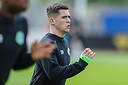 Forest Green Rovers Jack Aitchison(29), on loan from Celtic warming up during the EFL Sky Bet League 2 match between Cambridge United and Forest Green Rovers at the Cambs Glass Stadium, Cambridge, England on 7 September 2019.