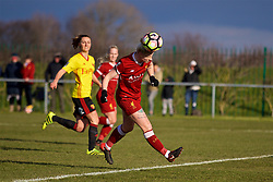 LIVERPOOL, ENGLAND - Sunday, February 4, 2018: Liverpool's Ashley Hodson during the Women's FA Cup 4th Round match between Liverpool FC Ladies and Watford FC Ladies at Walton Hall Park. (Pic by David Rawcliffe/Propaganda)