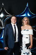 Adelaide 36ers and Adelaide Lightning MVP Dinner at the Titanium Security Arena. Christopher Caldicott and Leva Nagy.