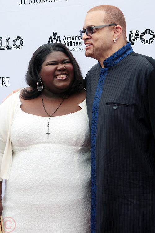 13 June 2011- Harlem, NY-  l to r: Gabourey Sidibe and Sinbad at the 2011 Annual Apollo Spring Gala honoring Stevie Wonder held at the Apollo Theater on June 13, 2011 in Harlem, New York City. Photo Credit: Terrence Jennings