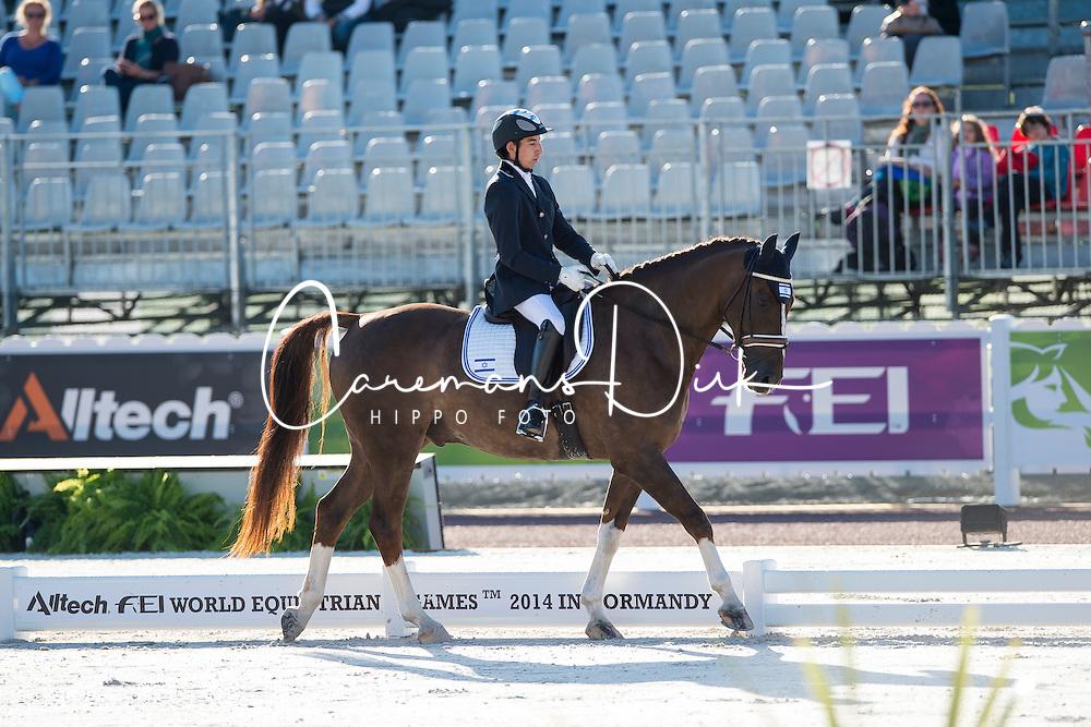 Yonatan Dresler, (ISR), Flylight - Team Competition Grade III Para Dressage - Alltech FEI World Equestrian Games&trade; 2014 - Normandy, France.<br /> &copy; Hippo Foto Team - Jon Stroud <br /> 25/06/14