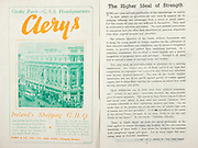 All Ireland Senior Hurling Championship Final,.Brochures,.03.09.1950, 09.03.1950, 3rd September 1950, .Tipperary 1-9, Kilkenny 1-8, .Minor Tipperary v Kilkenny,.Senior Tipperary v Kilkenny, .Croke Park, ..Advertisements, Clery's Ireland's Shopping GHQ, ..Articles, The Higher Ideal of Strength,