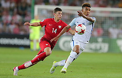 June 22, 2017 - Kielce, Poland - Dawid Kownacki (POL), Mason Holgate (ENG), during the UEFA European Under-21 Championship Group A match between England and Poland at Kielce Stadium on June 22, 2017 in Kielce, Poland. (Credit Image: © Foto Olimpik/NurPhoto via ZUMA Press)
