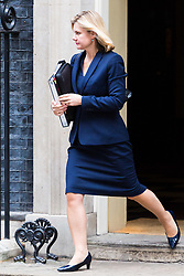 London, October 24 2017. Education Secretary Justine Greening leaves the UK cabinet meeting at Downing Street. © Paul Davey