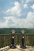 Viewpoint Binoculars at Pendleton Point Overlook. Blackwatrer Falls West Virginia