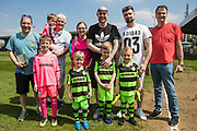 Mascots and dads during the EFL Sky Bet League 2 match between Forest Green Rovers and Grimsby Town FC at the New Lawn, Forest Green, United Kingdom on 5 May 2018. Picture by Shane Healey.