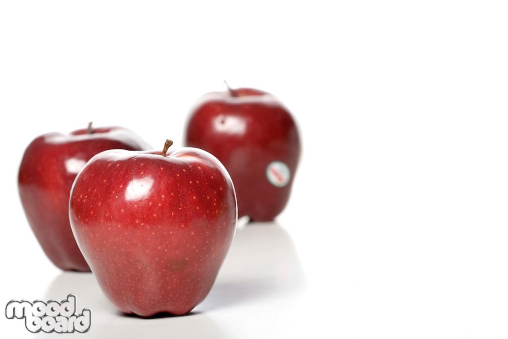 Studio shot of red apples