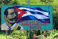 Revolutionary sign in Santiago de Cuba, Cuba.