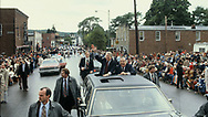 President Jimmy Carter campaigns with Senator Jennings Randolph in Elkins, W.VA in October 1978<br /> Photo by Dennis Brack