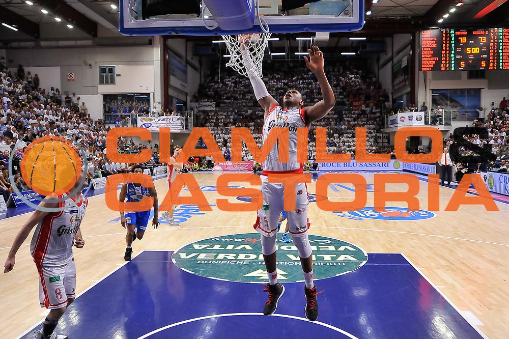 DESCRIZIONE : Campionato 2014/15 Serie A Beko Dinamo Banco di Sardegna Sassari - Grissin Bon Reggio Emilia Finale Playoff Gara3<br /> GIOCATORE : VItalis Chikoko<br /> CATEGORIA : Rimbalzo<br /> SQUADRA : Grissin Bon Reggio Emilia<br /> EVENTO : LegaBasket Serie A Beko 2014/2015<br /> GARA : Dinamo Banco di Sardegna Sassari - Grissin Bon Reggio Emilia Finale Playoff Gara3<br /> DATA : 18/06/2015<br /> SPORT : Pallacanestro <br /> AUTORE : Agenzia Ciamillo-Castoria/L.Canu