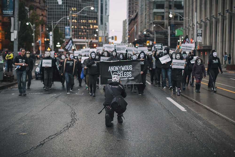 Million Mask March Toronto<br />